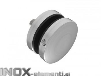 Ime * INOX Nosilec stekla okrogel točkovni raven 50x10x10 / satiniran nastavljiv M104S