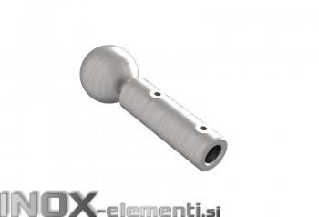 INOX napenjalec / držalo jeklene vrvi 4-6mm 12x20mm satiniran AISI304