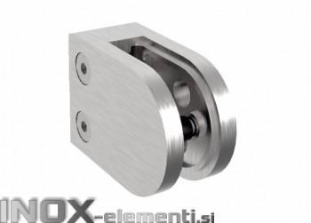 INOX Nosilec stekla 00 polkrožen satiniran 45x63mm AISI304 11.5S