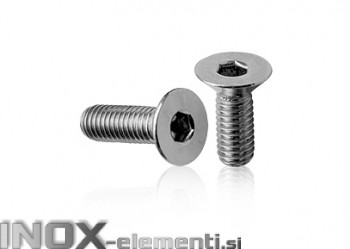 INOX Vijak 6X20 D7991/A2 imbus vgrezna glava