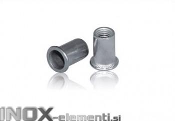 INOX slepa matica M6 RF A2 narebričana 0,5-3,0mm