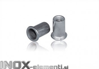 INOX slepa matica M8 RF A2 narebričana 0,5-3,0mm