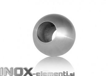INOX Prehodna krogla 12x25 prebojna / satinirana