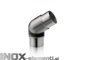 INOX Vmesni člen cevi 42.4 GIBLJIV 90°-180° / satiniran