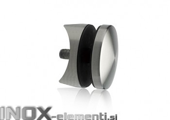 INOX Nosilec stekla okrogel točkovni 42,4 / satiniran 0105S