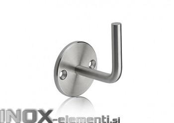 INOX Stenski nosilec 42.4 fiksen brez ležišča cevi  / satiniran