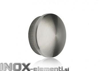 INOX Zaključni čep 42.4 izbočen / satiniran