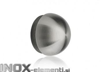 INOX Zaključni čep 42.4 polkrožen / satiniran