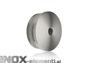INOX Zaključni čep 42.4-M8 izbočen / satiniran