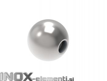 INOX okrasna krogla fi30 M6 polna satinirana AISI304
