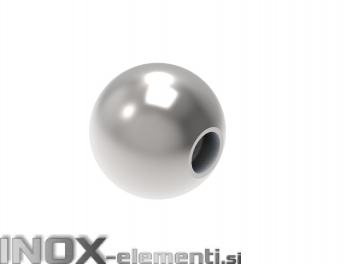 INOX okrasna krogla fi40 M8 polna satinirana AISI304
