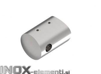 INOX Prečni nosilec 6 / satiniran za cev 42,4 žični sistem