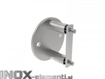 INOX Nosilec stebra / satiniran za cev 42,4