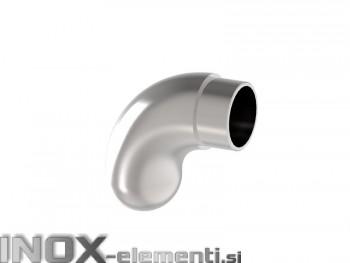 NOX Zaključni lok cevi 42,4, okrogel / satiniran