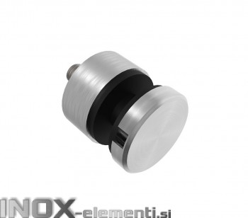 INOX Nosilec stekla okrogel točkovni raven/ satiniran 0106S