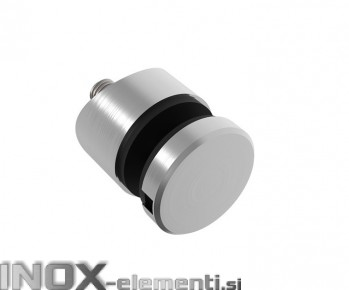 INOX Nosilec stekla okrogel točkovni 42,4 / satiniran 0107S