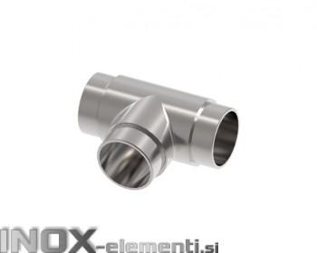 INOX Vmesni člen cevi 42.4 T povezovalni / satiniran