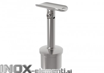 INOX Cevni nosilec 42.4 gibljiv D14 z čepom varjen / poliran AISI304