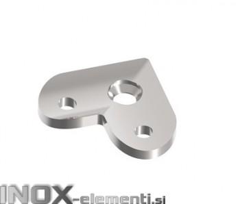 NOX Pritrdilna ploščica kotna 42.4 / satiniran