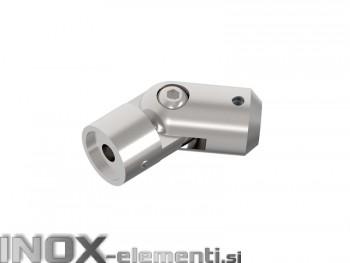 INOX axialni nosilec gibljiv 12 / satiniran za cev 42,4 AISI304