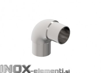 INOX Koleno polkrožno 90° 42.4 / satinirano AISI304