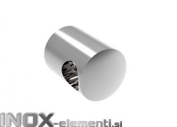 INOX Prečni nosilec 12 / poliran za ravno montažo