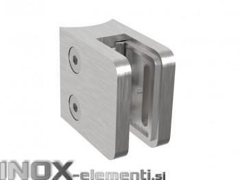 INOX Nosilec stekla 42.4 satiniran 45x45mm AISI304