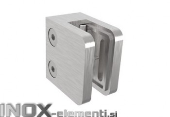 INOX Nosilec stekla 00 satiniran 45x45mm AISI304