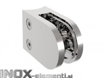 INOX Nosilec stekla 42.4 poliran 45x63mm AISI304