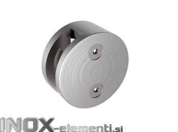 INOX Nosilec stekla 00 okrogel Fi60 / satiniran AISI304