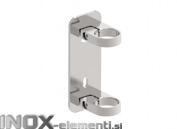 INOX Nosilec stebra 42,4 / satiniran 180X70 AISI304