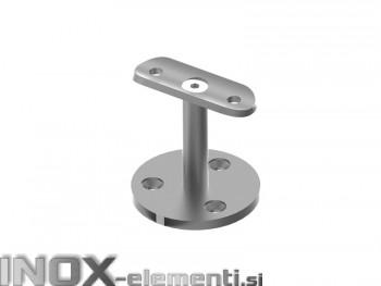 INOX Stenski nosilec 42.4 raven satiniran AISI304