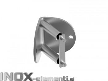 INOX Nosilec stebra 42,4 / satiniran kotni AISI316
