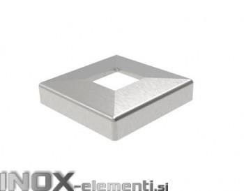 INOX Pokrov plošče 40x40x108mm / satinirano AISI304