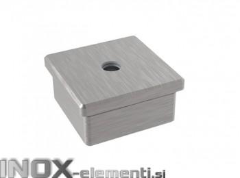 INOX Zaključni čep 40x40x2 M8 satiniran AISI304