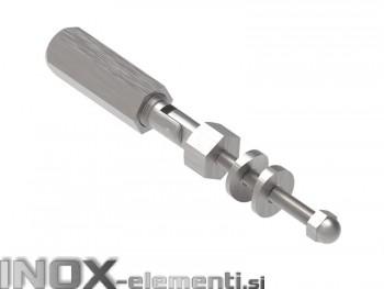 INOX napenjalec 5-8mm 42,4 pregibni / satiniran AISI304