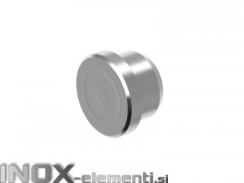 INOX Zaključni čep 16 raven / satiniran
