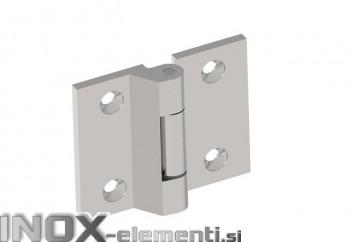 INOX Tečaj 00 satiniran 70x70mm AISI316