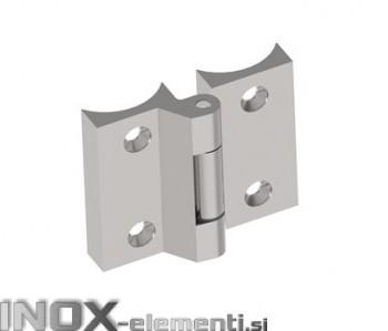 INOX Tečaj 42.4 satiniran 70x70mm AISI316