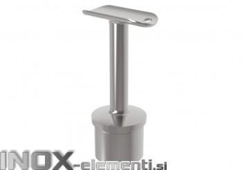 INOX Cevni nosilec 42.4 fiksen D14 z čepom varjen / poliran AISI304