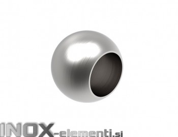 INOX Zaključna krogla 12x20 slepa / satinirana