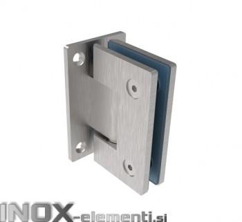 INOX tečaj za steklo AISI304, T8-10mm satiniran
