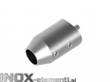INOX axialni nosilec 12 / satiniran za cev 33,7