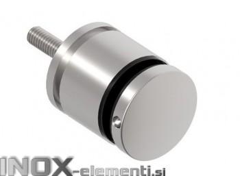 INOX Nosilec stekla okrogel točkovni raven 50x35-55x10 / satiniran A104S AISI304
