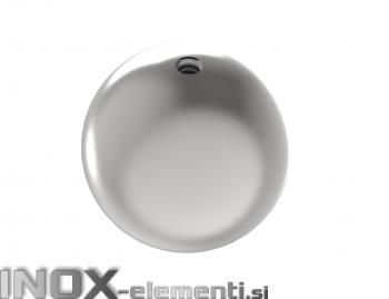 INOX okrasna krogla fi50 M8 votla satinirana AISI304