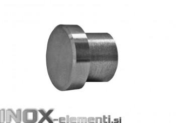 INOX Zaključni čep 12 raven / satiniran