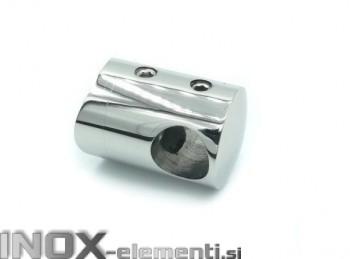 INOX Prečni nosilec 12 / poliran za cev 42,4