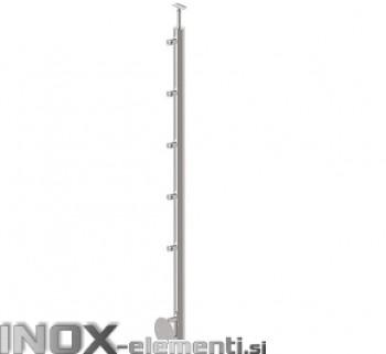 Inox Steber D12/1000-D42 satiniran, bočni, 42,4 BS 1100mm