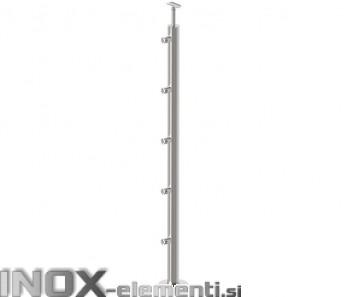 INOX Steber D12/1000-D42 statiniran, 42,4 VR 1000mm AISI304