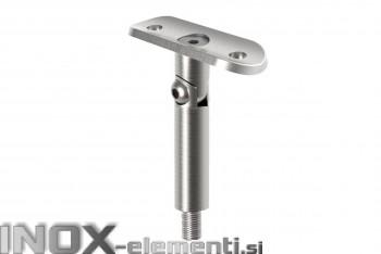 INOX Cevni nosilec 42.4-M8 gibljiv / satiniran